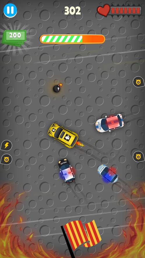 警车警察追逐