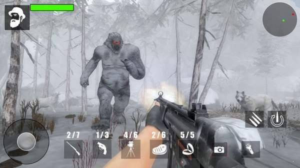 雪人怪物森林狩猎图1