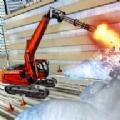 雪地挖掘机救援行动游戏