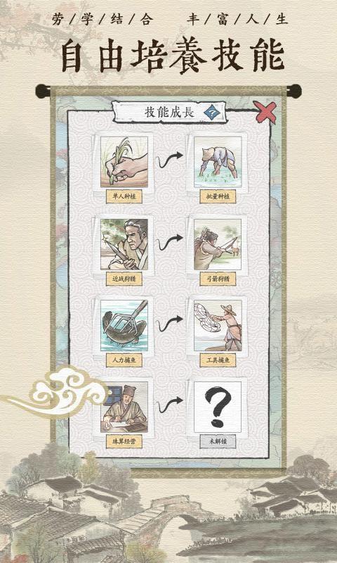 古代乡村人生图1