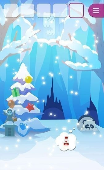 动物们与下雪的岛图3