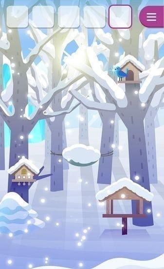 动物们与下雪的岛图1