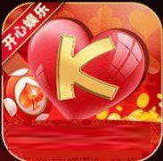 开心娱乐红色爱心中间有k版